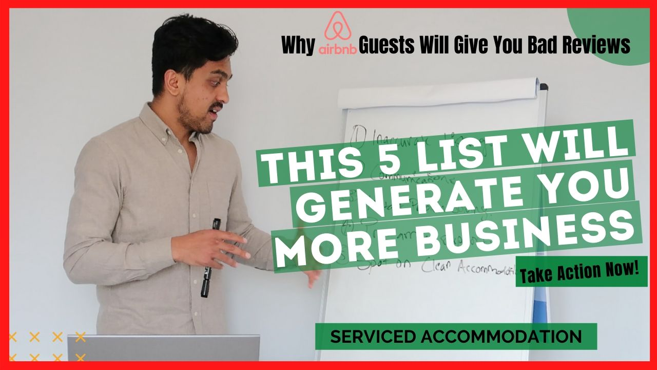 Bad Reviews in Air Bnb | 5 Reasons Why Guests Will Rate Experience Poor | Serviced Accommodation