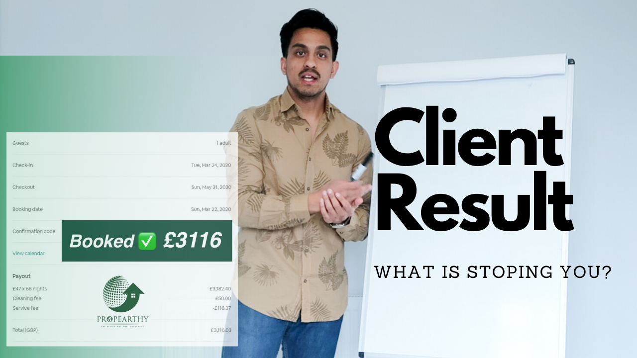 Made £3000+ from 1 Booking – My Client Case Study | Serviced Accommodation Branding