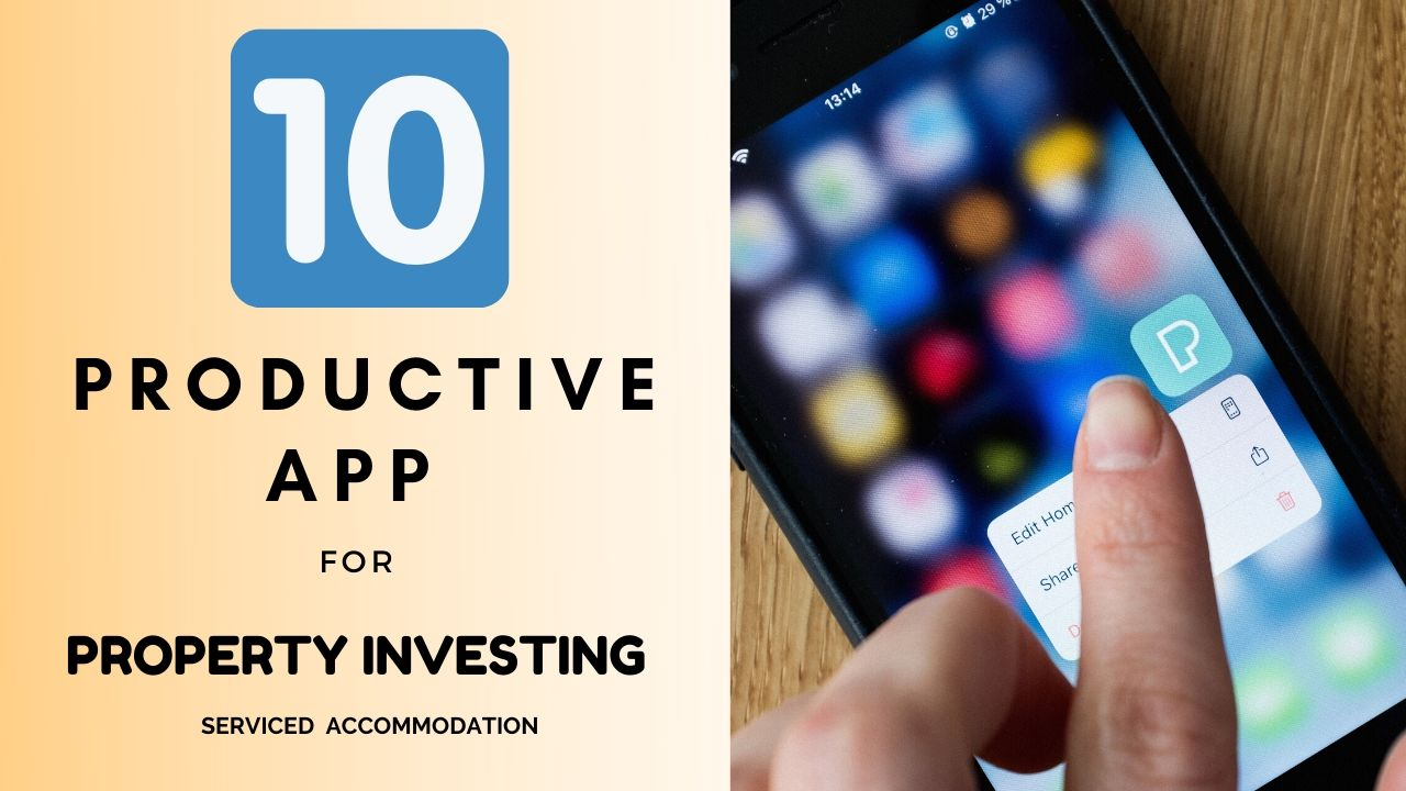 Free Youtube Training | 10 Apps for Property Investing | Serviced Accommodation | Features & Use